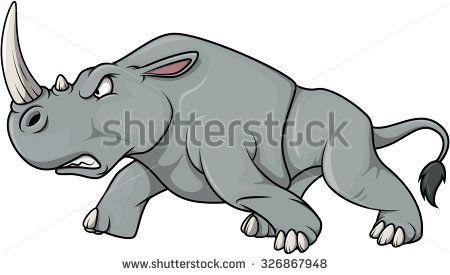 Angry Rhinoceros cartoon illustration