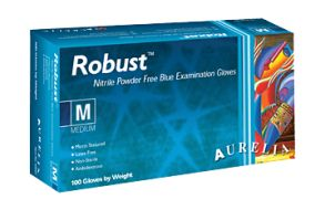 Robust Nitrile Gloves - Best Selling glove in our disposable Glove Range Aurelia® Robust® Blue Nitrile Powder-Free Examination Gloves are made from special Nitr