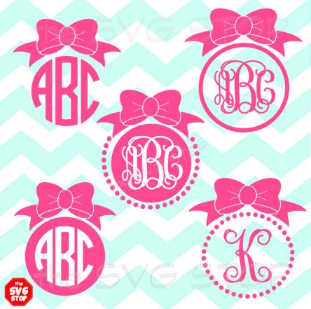 This SVG STOP listing includes our Bow Monogram frames design. This design includes 5 different frame designs.  *monogram font not included  WHAT YOU'LL