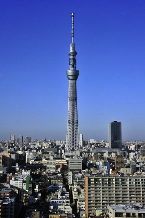Tokyo's Sky Tree.   officially the world's tallest communication tower and the second tallest building.