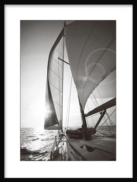 Black and white photography poster, Sailing. Check out our webshop www.desenio.se for more art prints and posters.