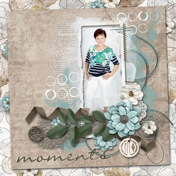 """August 2016 Challenge Just Art """"Moments"""" minikit by create by Jill August It's Your Choice Challenge"""
