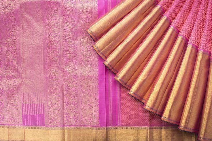 Kanakavalli Handwoven Kanjivaram Silk Sari 1016221 - Sari / Silk Saris - Parisera