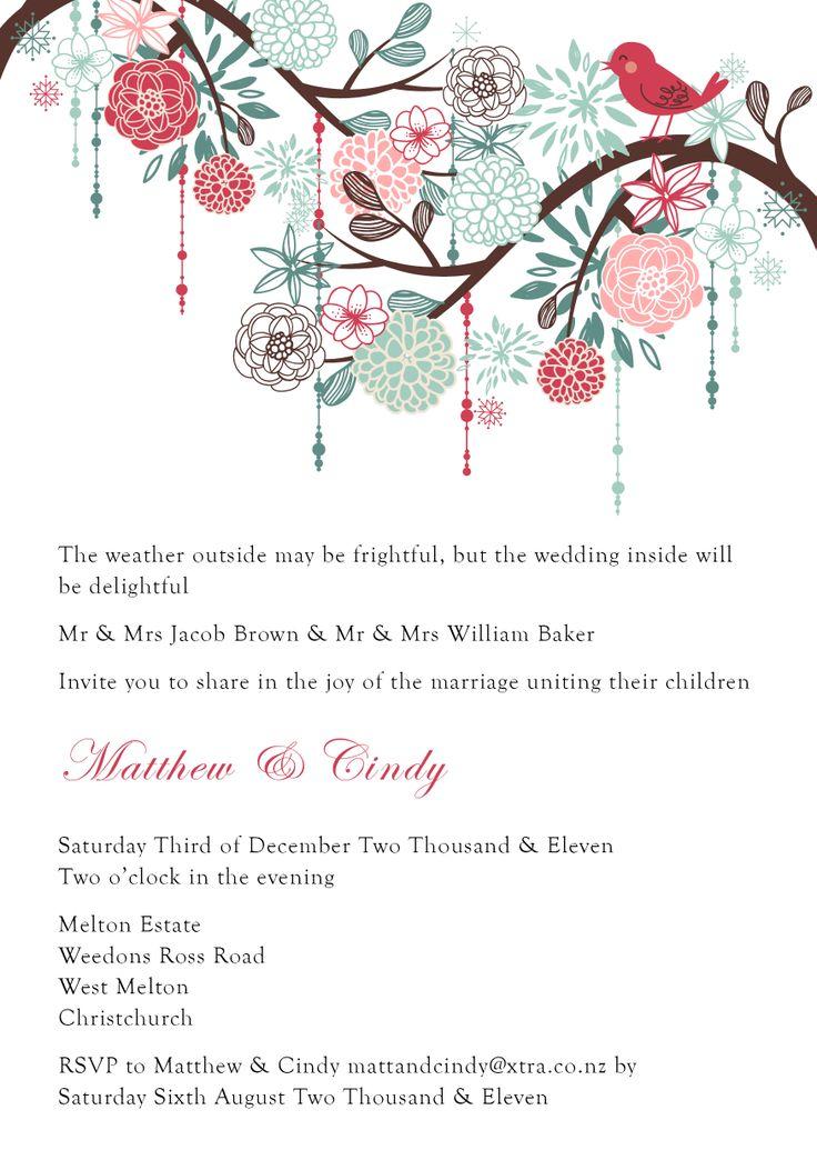Matthew & Cindy's Invite - www.chicdesign.co.nz