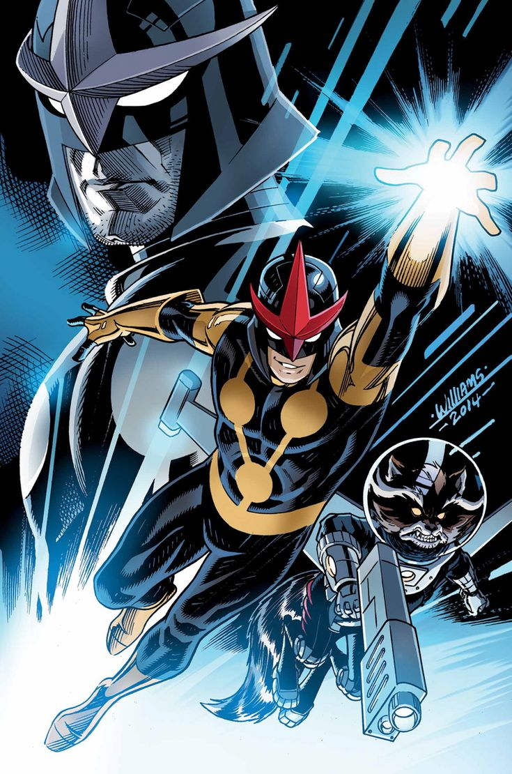 NOVA #20 GERRY DUGGAN (W) • David Baldeon (A) Cover by DAVE WILLIAMS ORIGINAL SIN tie-in! GUEST-STARRING ROCKET RACCOON! • The secrets of the Black Novas and Sam Alexander's dad have been revealed. • Sam's world is torn apart, but can he come out of this stronger? 32 PGS./Rated T …$3.99