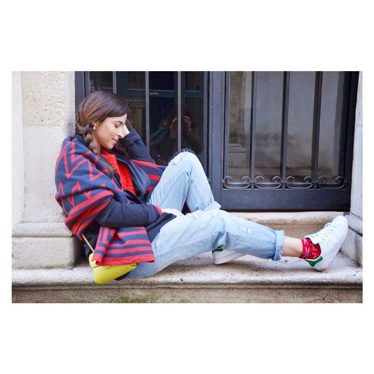 #sweater #red #smoking #jacket #paulacademartori #braid
