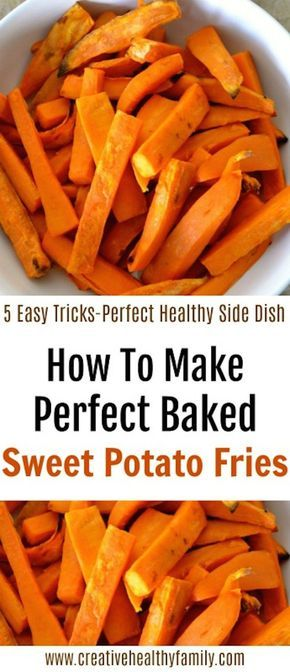 Let me show you How To Make Perfect Baked Sweet Potato Fries if you follow a few simple rules. Enjoy a wonderful and healthy side dish. #sweetpotato #fries #baked #fingerfood #tips #cookinghacks #health #wellness