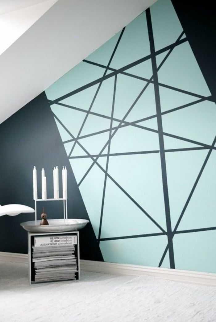 Decora Geometricamente La Parete Nel Corridoio Corridoio Decora Geometricamente La Nel Parete Decorazione Geometrica Pareti Casa Colorate Parete