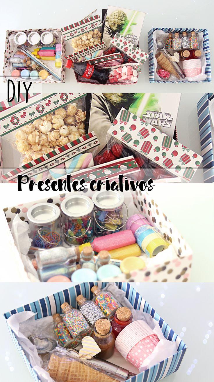 DIY | Como fazer presentes realmente legais de ultima hora gastando pouco! - Presentes na caixa: caixa  cinema, caixa  DIY e caixa sorveteria!