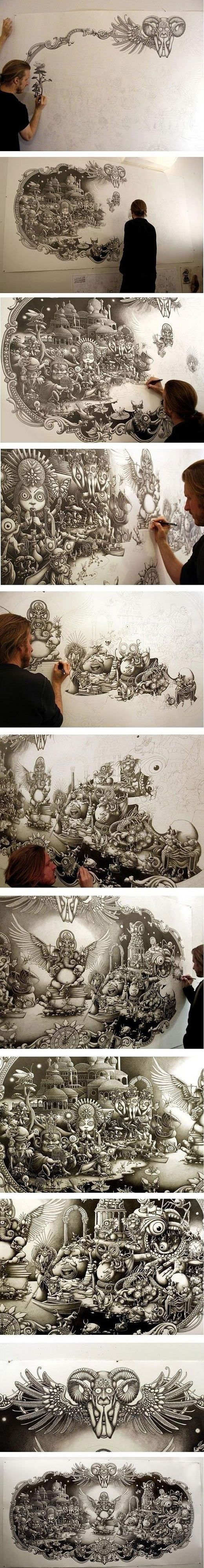 106 best images about more cool art on pinterest for Cool detailed drawings