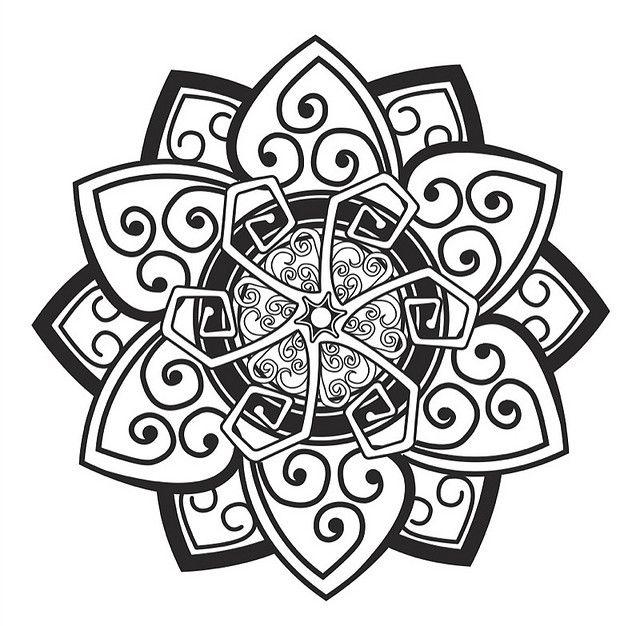 ⊰❁⊱ Mandala para Colorear ⊰❁⊱ B&W; mandala