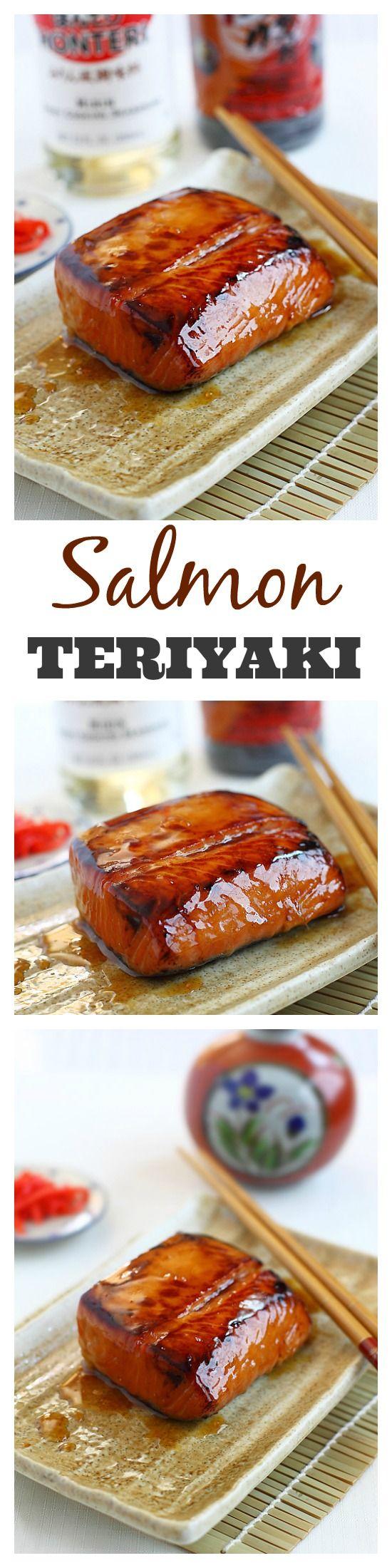 Salmon teriyaki recipe. Super easy, simple ingredients, amazing, and healthy | rasamalaysia.com