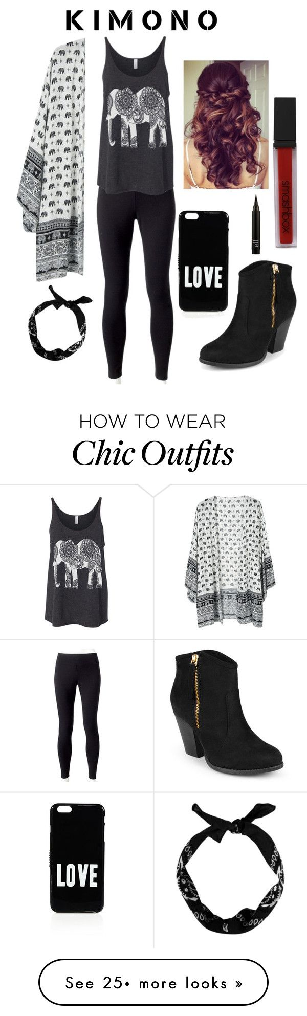 """""""Elephant Kimono"""" by soph13-13 on Polyvore featuring Jockey, New Look, Givenchy, Smashbox, Journee Collection and Retrò"""