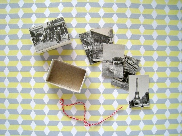 i love Paris in the springtime, i love...handmade matchbox via frauheuberg