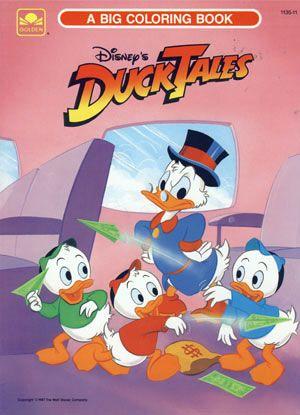 walt disneys ducktales big coloring book 1987 golden books - Big Coloring Books