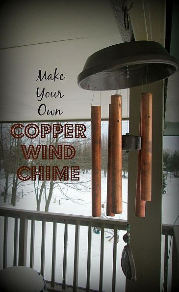 This copper wind chime was crafted as a traditional 7th anniversary gift.