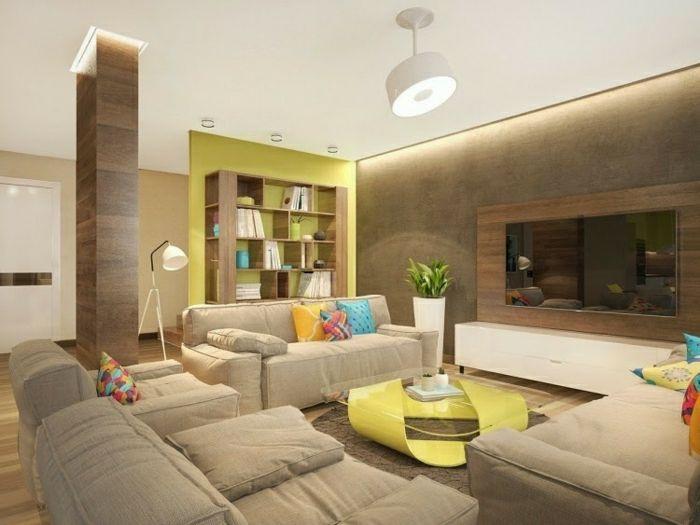 eclairage indirect salon avec interieur beige