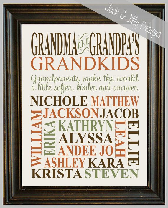 Personalized Grandparent Print The Original With