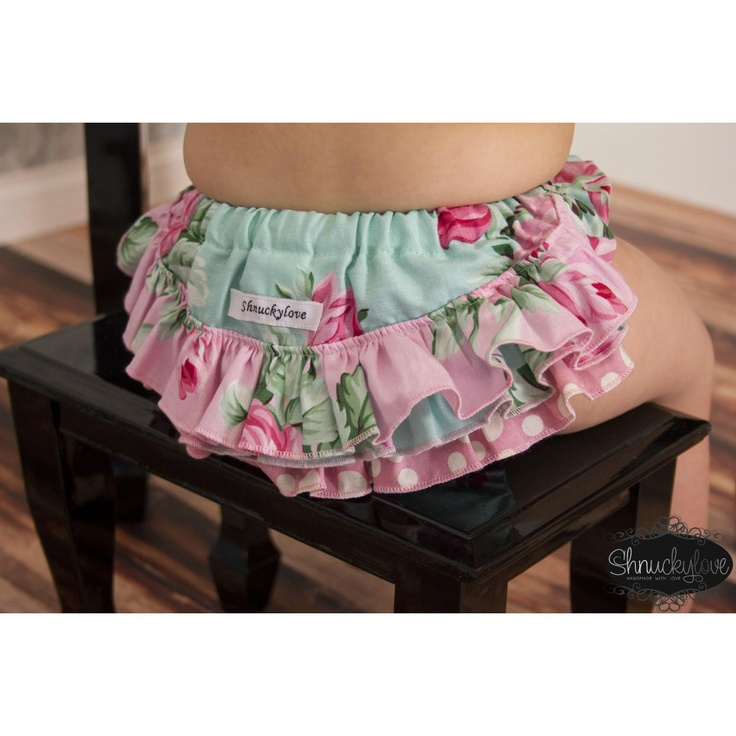 $27.00 sz 3 to 6m MINT PRINCESS ruffle nappy cover only by Shnuckylove on Handmade Australia