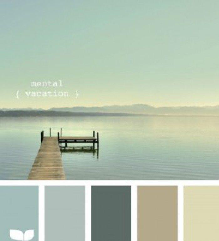 Mooie rustige natuurlijke kleuren voor in de woning. Tref: blauw, zee, groen, geel,