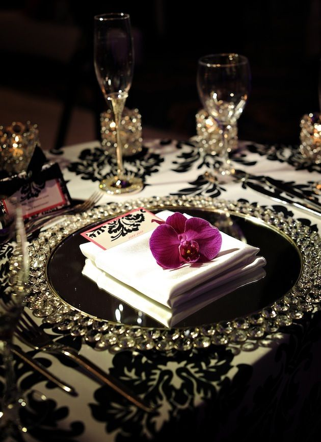 Elegant table setting tablescape.  http://www.annabelchaffer.com/categories/Dining-Accessories/: