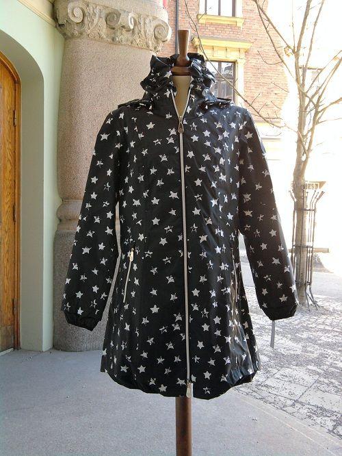 Anne Miller Raincoat black stars