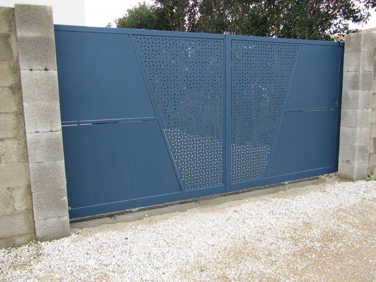 19 best portail images on Pinterest Close board fencing, Fences