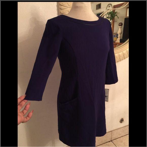 Eliza J petite purple dress 68% polyester 30% rayon 2% spandex lining 100% polyester two front pockets on hip with back zipper Eliza J Dresses