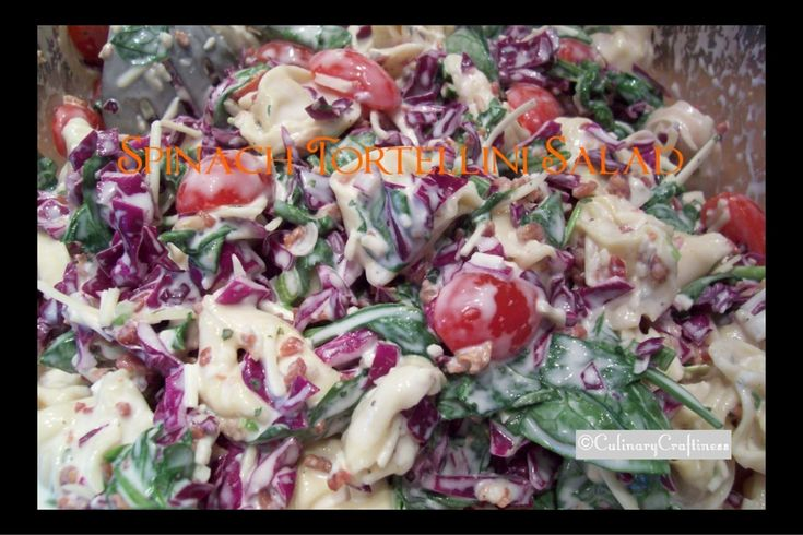 Rachel's Spinach & Cheese Tortellini Salad | Culinary Craftiness