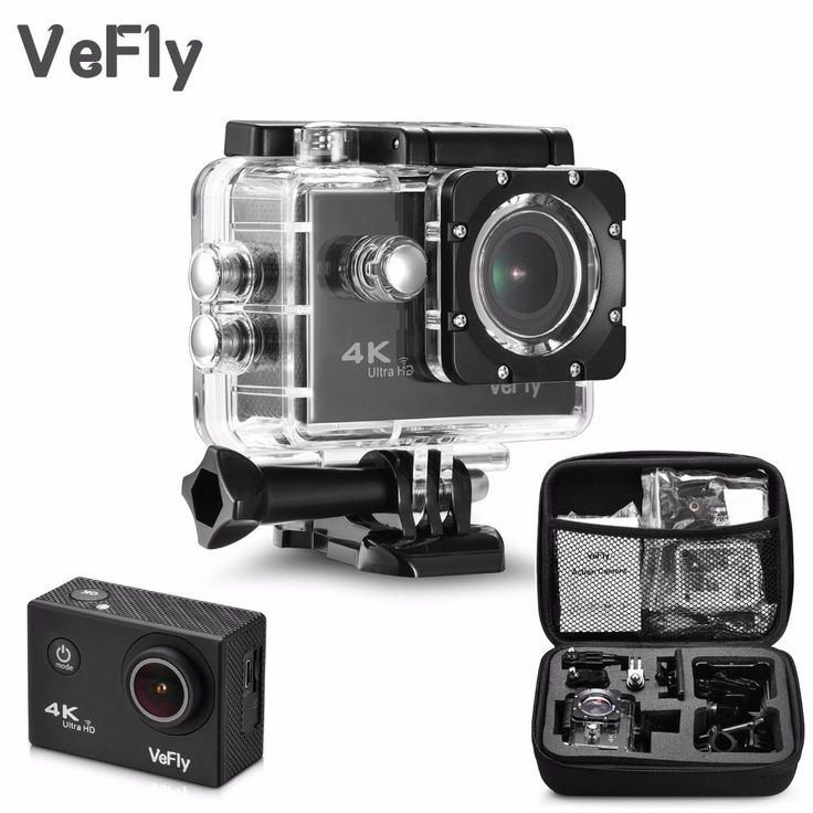 VeFly 2.0 inch Screen Wifi 1080P 4K Waterproof Action Camera, 16MP + Cam Go Pro Accessories case set //Price: $53.89//     #storecharger