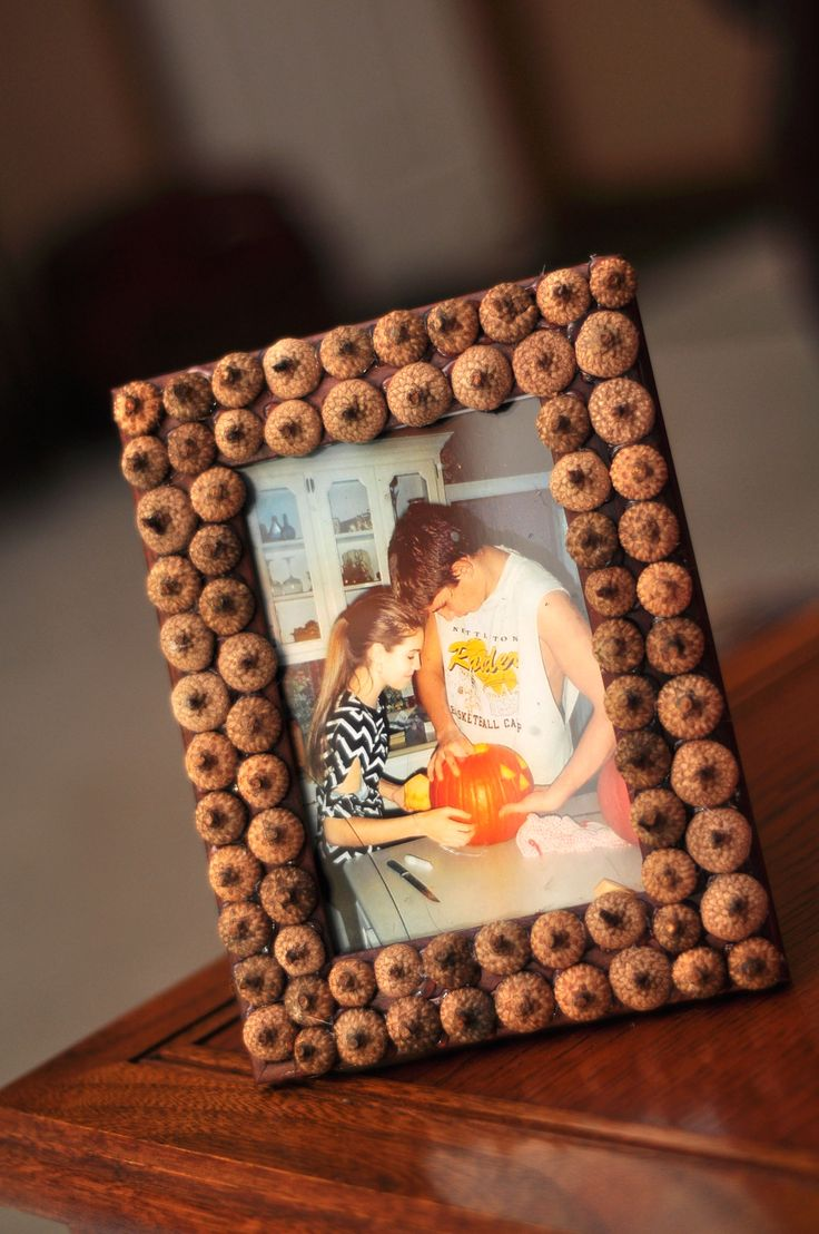 Acorn Frame  Another Pinterest creation I made.    Perfect for fall, especially for an Alpha Gam!  :)