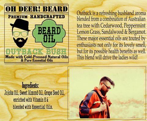Beard Oil  - Outback Bush      30ml/1 fl. oz.
