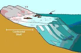 paparan benua yaitu dasar laut dangkal yang berbatasan dengan benua dengan kedalaman 0-200 m. Contohnya  Dangkalan Sunda antara Kalimantan, Jawa, dan Sumatera yang berkedalaman ± 40-45 meter
