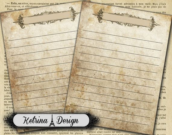 Vintage Blank Journaling Cards 3 x 4 instant by KetrinaDesign