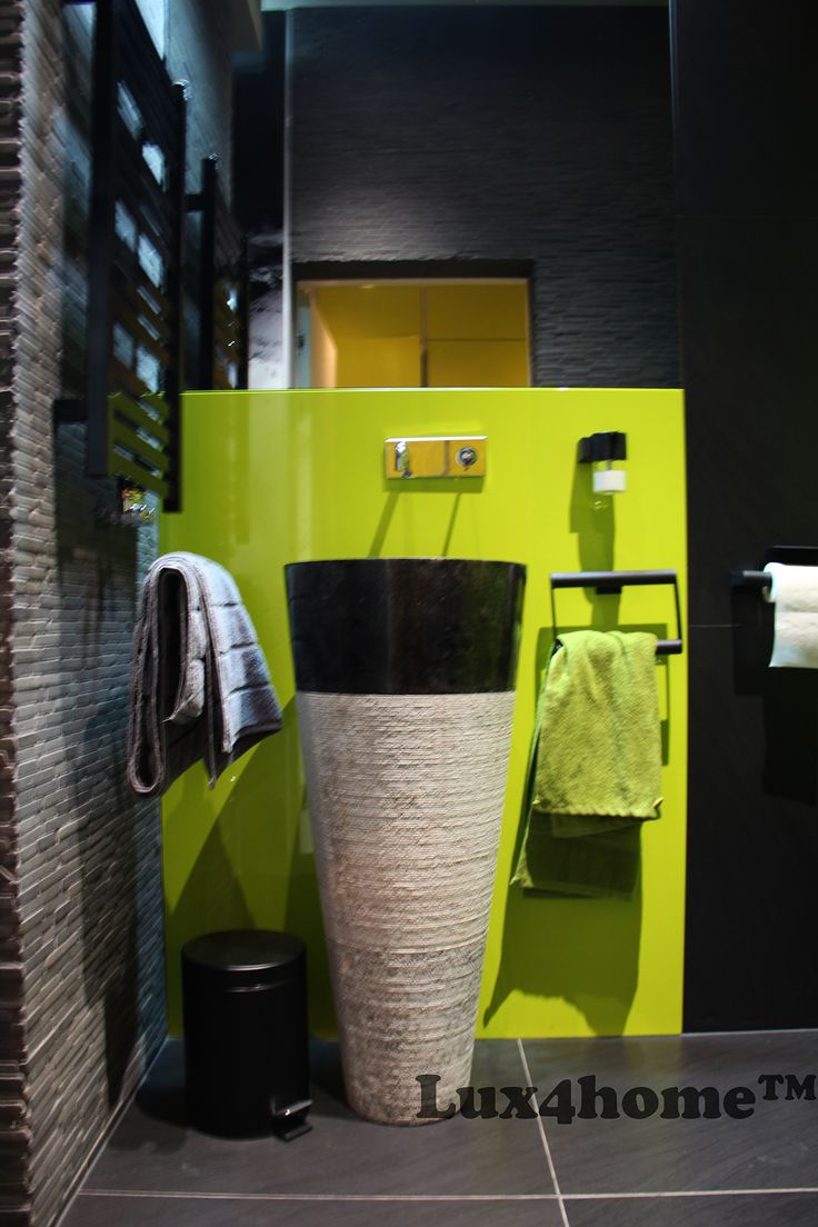 Freestanding #Stone #Sink - Pedestal Marble Sink - Black Marble Standing Sinks... We made stone sinks like this... See our collection.  #freestandingsinks #stonesinks #marblesinks #bathroom #marble #naturalstone #batroomideas #interiordesign #blackstone #blackwall