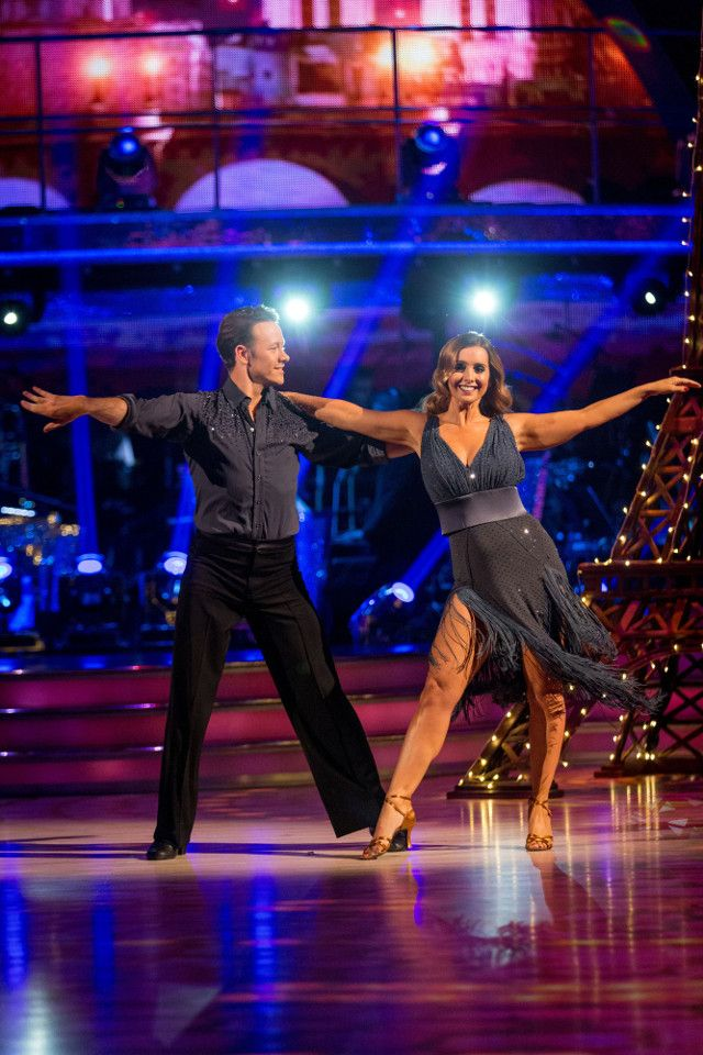 SCD week 5, 2016. Louise Rednapp & Kevin Clifton. Rumba.  Credit: BBC / Guy Levy