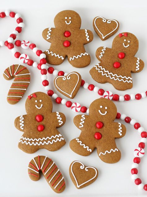 Gingerbread holiday Christmas cookies