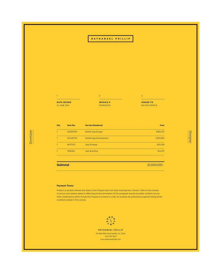 Best Invoices  Stationery Images On   Corporate