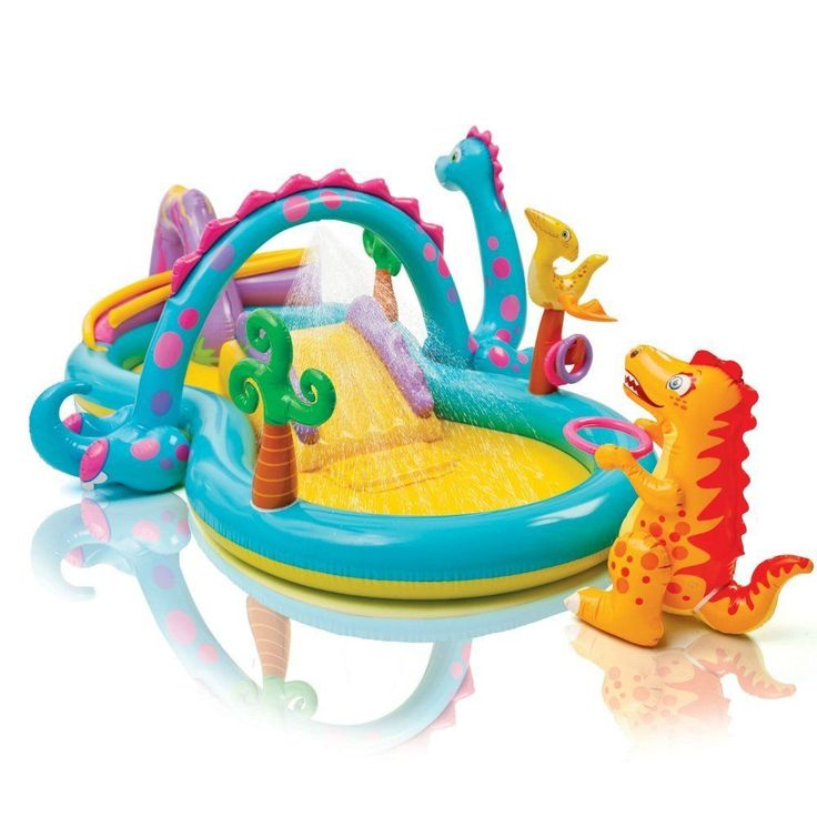 Intex Dinoland Inflatable Play Center With Six Colorful Plastic Balls 57135EP 3+ #Intex