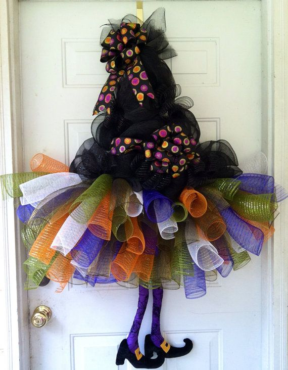 labor day sale extra large witches tutu witch hat witchs legs deco mesh