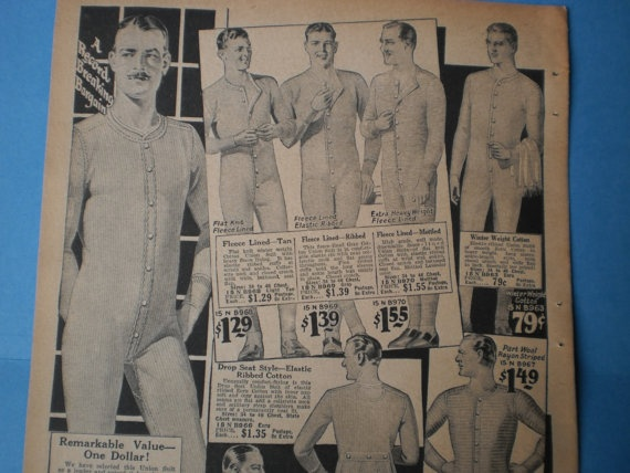 08357d3fe4d Mens Underwear Ad Fashion Print From Vintage 1920s NY Catalog to Frame