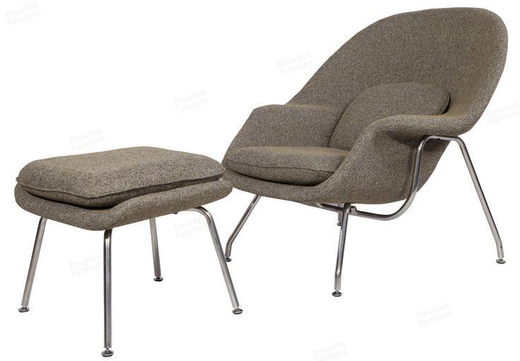 Eero saarinen womb chair ottman in premium