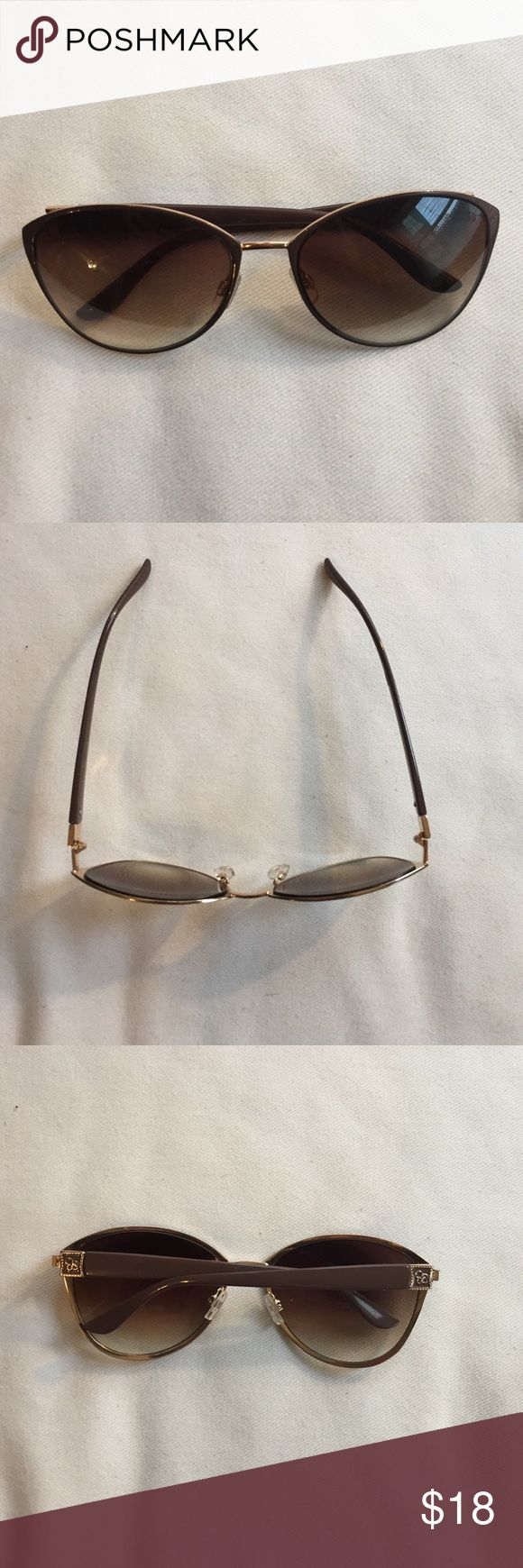 Jessica Simpson Sunglasses Taupe and gold. Like new. Accessories Sunglasses