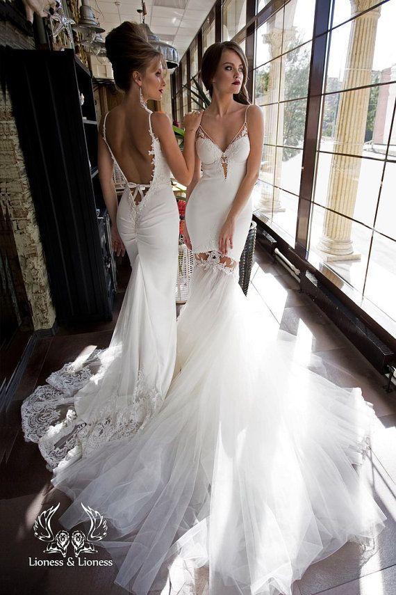 Wedding dress, unique wedding dress, wedding dresses, sexy wedding dress…