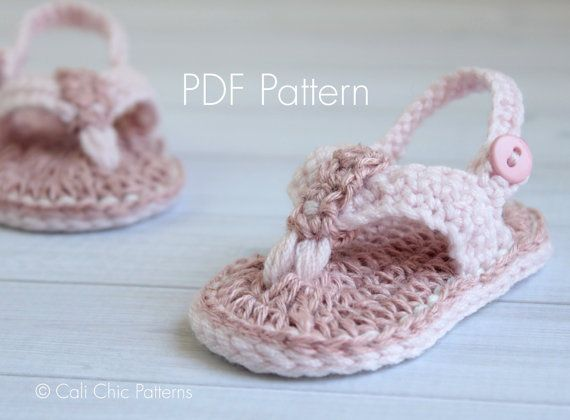 Crochet Patterns For Baby Shoes And Sandals : 1000+ ideas about Baby Flip Flops on Pinterest Crocheted ...