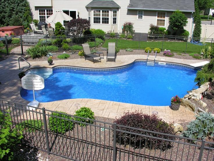 17 best images about inground vinyl pools on pinterest for Pool design inc bordentown nj