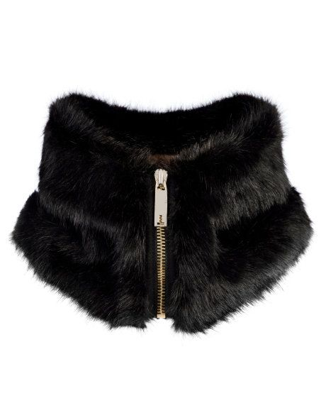 Faux fur collar - Black | Scarves | Ted Baker