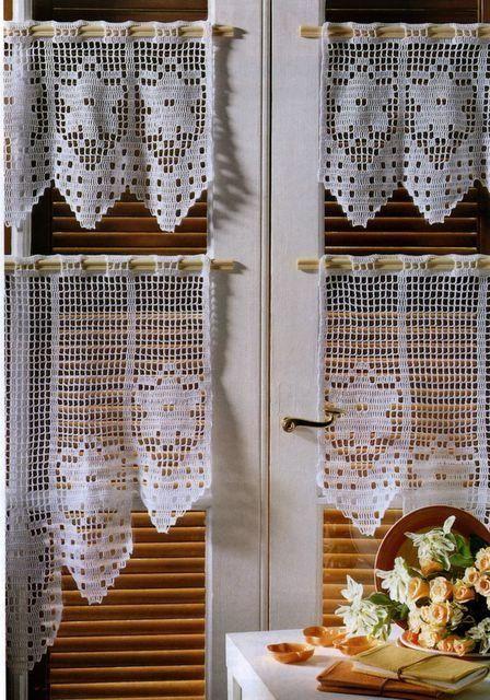 Crochet Knitting Handicraft: Cortinas Crochet