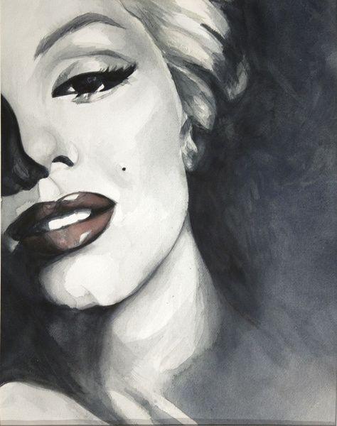 Marilyn Moroe portrait by HOMartistry | This image first pinned to Marilyn Monroe Art board, here: http://pinterest.com/fairbanksgrafix/marilyn-monroe-art/ || #Art #MarilynMonroe