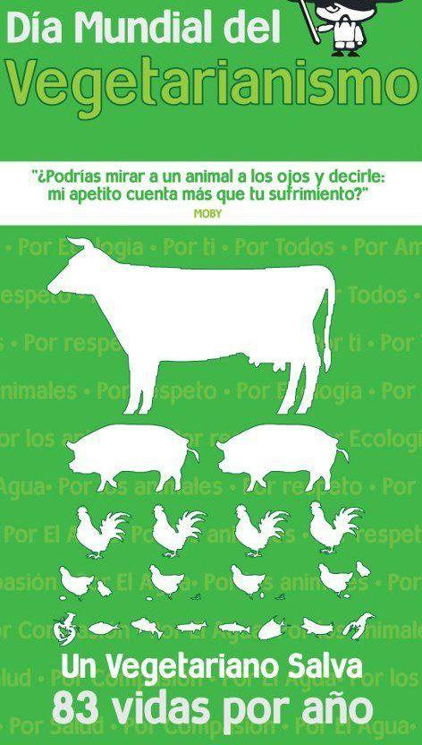 Día mundial del vegetarianismo.